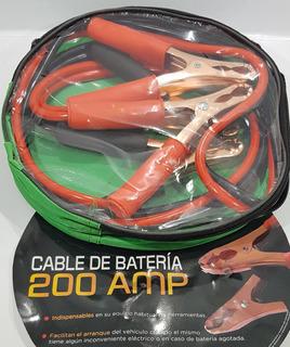Cable Puente Bateria Auto Camioneta Tractor 200 Amper 2mts