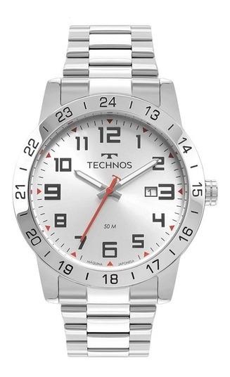Relógio Technos Masculino Prateado Garantia Original