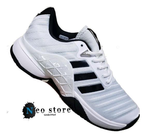 Tenis adidas Barricade Code Blanca Linea Negra