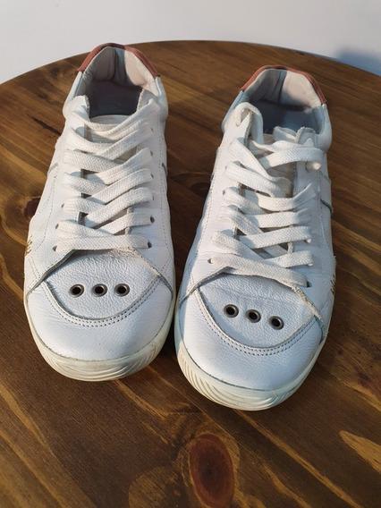Tenis Branco Feminino Casual Original Em Couro Osklen Adulto