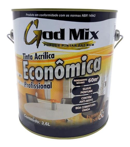 Tinta Acrílica Parede Econômica God Mix 3,6l Cores Diversas