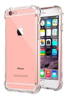 Funda Clear Antigolpes Premium + Vidrio iPhone 6 6s 6 Plus