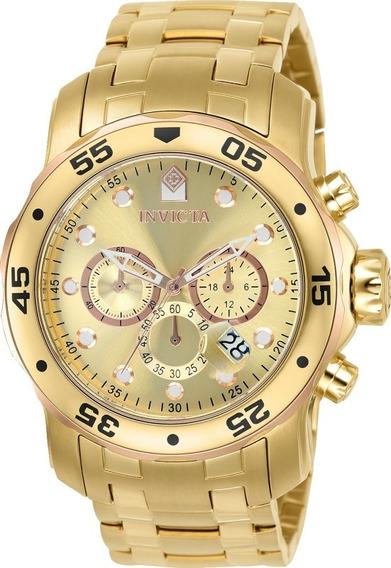 Relógio Invicta Pro Diver 80071 Vd 53 Ouro 18 K