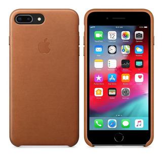 Capinha P/ iPhone 7 E 7 Plus - Couro Aveludado Por Dentro
