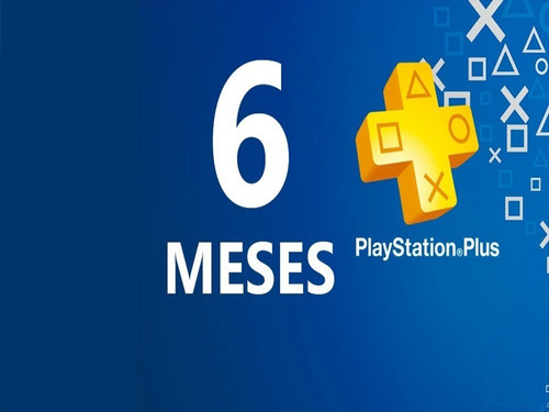 Ps Playstation Plus 6 Meses 180 Días Digital Pr|nc|pa| Ps4