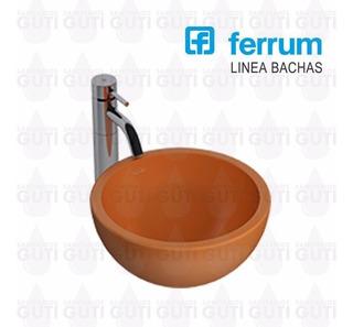 Bacha Ferrum Persis Naranja Apoyo Baño Porcelana Sanitaria