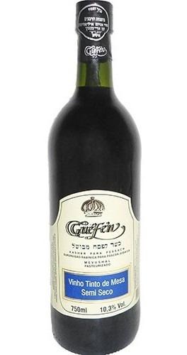 Imagem 1 de 1 de Vinho Tinto Semi Seco Isabel/bordô 750ml - Guéfen