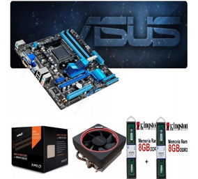 Kit Fx 8350 4.2ghz 8-core + Memoria 16gb + Placa Am3+
