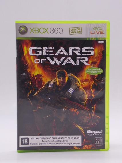 Gears Of War Xbox 360 E Xbox One Original Mídia Física