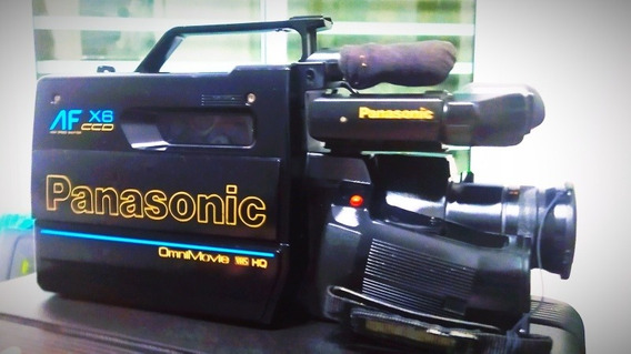 Filmadora Panasonic Omni Movie Vhs Hq Af X6 P/ Com Maleta
