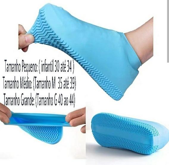 Capa Chuva Tenis Pes Silicone Moto Bota Sapato Impermeavel