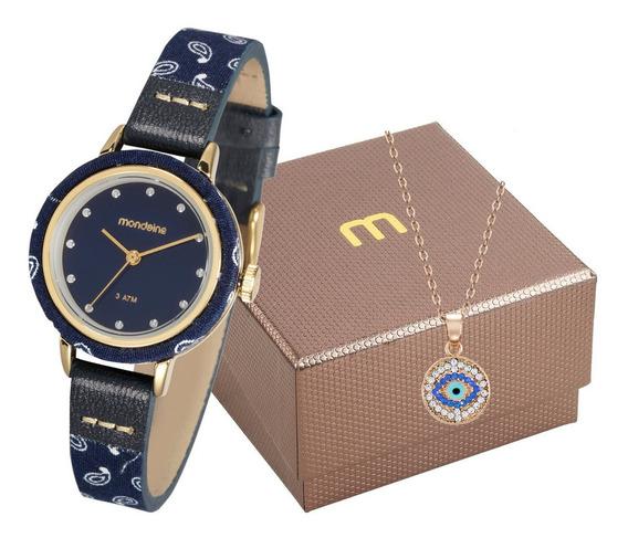 Kit Relógio Feminino Mondaine + Pulseira 89003lpmvdh1k1
