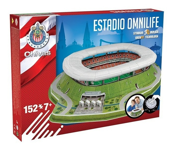 Rompecabezas 3d Estadio Omnilife Chivas México Gdl Nanostad
