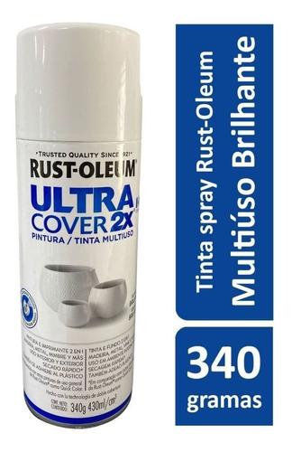 Spray Branco  Brilho Plástico,vidro,alumínio,madeira E Metal
