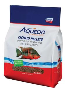 Alimento Peces Ciclidos Medium Pellets Aqueon 708 Grs