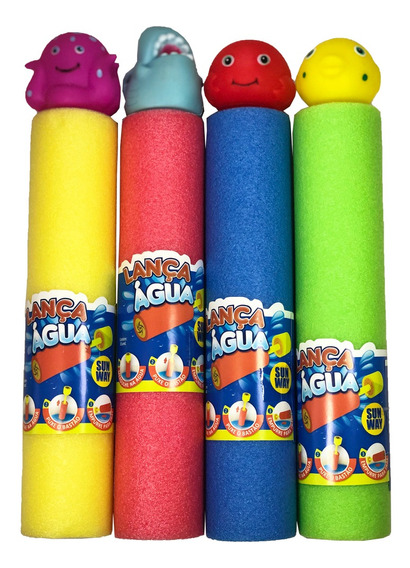 Lança-água Infantil Brinquedo 30x5cm Arminha De Água Bichos