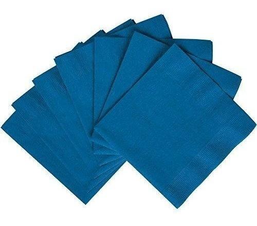 Servilletas De Papel Color Azul Rey / Marine Blue