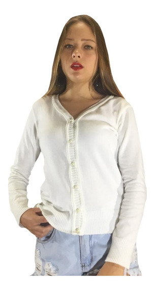 Oferta Blusa De Frio Cardigan Feminino Casaco Sueter Tricot
