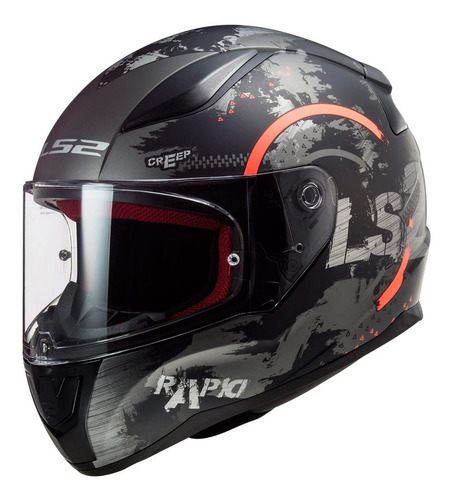 Casco Integral Ls2 Para Moto Ff353 Rapid Circle Titanium