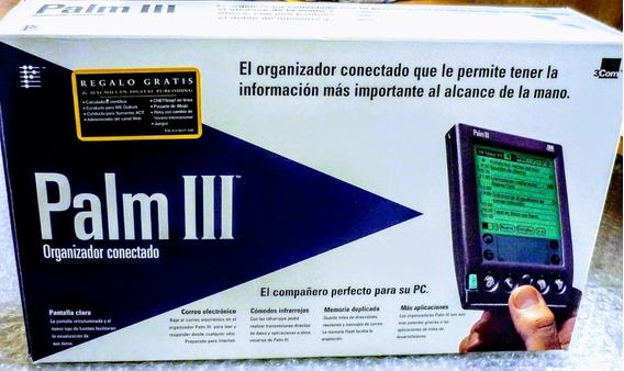 Palm 3 Com + Estuche Y Accesorios A Revisar!