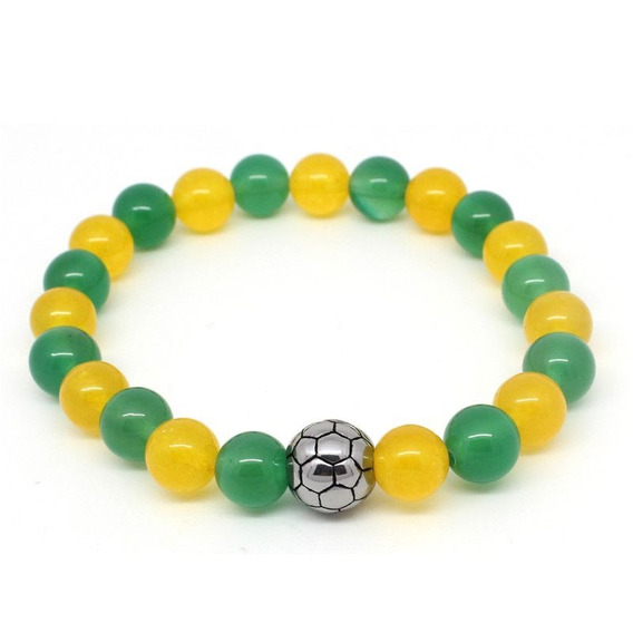 Pulseira Bracelete Comemorativo Copa Do Mundo Vamos Brasil!