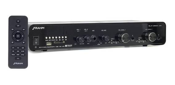 Amplificador Receiver Frahm 2500 Slim Bluetooth Multi-canal