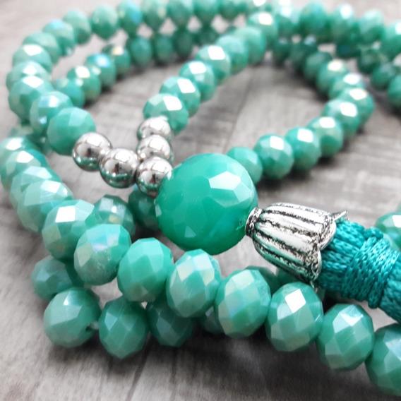 Colar Japamala Ho´oponopono Cristal (verde)