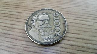 Moneda Mexicana De 100 Pesos De 1992 Circulada #8