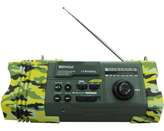 Rádio Portátil Com Lanterna Am Fm Usb Sw Bluetooth