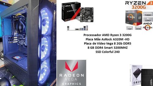Pc Gamer Amd Ryzen 3 3200g 8gb Vega 8 2gb