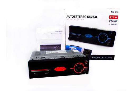 Autoestereo Digital Soporte Celular Bluetooth Manos Libres