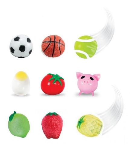 Kit Splash Ball Completo Com 9 Bolas Grudentas