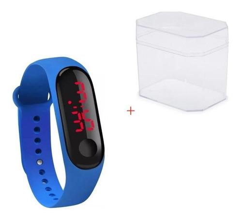 Relógio Esportivo Bracelete Digital Led Unissex +caixa