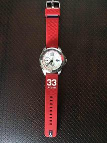 Relógio Lacoste Masculino Borracha Vermelho- Edição Limitada
