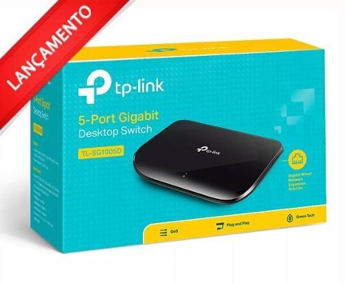 Tp-link Hub Switch 05p Tl-sg1005d 10/100/1000- Na Caixa V8.0