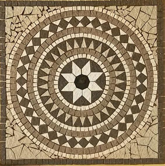 Rosetón Mosaico De Corte Ceramico