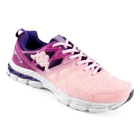 Tênis Running Corrida Kappa Impact Feminino Rosa E Lilas
