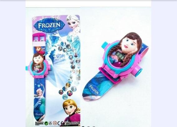 Relógio Digital Infantil Frozen Anna+boneca Da Anna +brinde
