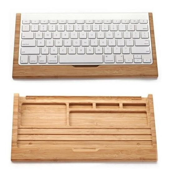 Base Em Madeira Teclado Apple Mc184ll/b Wireless Keyboard