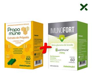Kit Imunidade Propomune Própolis + Imunofort Loja Maxinutri