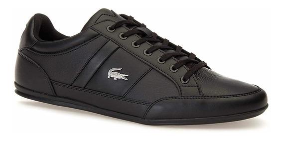 Tenis Para Hombre Lacoste Chaymon Negro Casual Piel Zapato