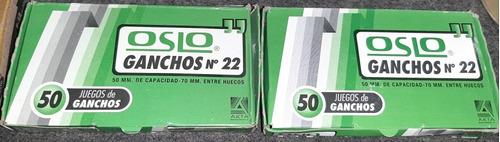 Ganchos Metalicos Para Carpeta Oslo Caja 50und C/u