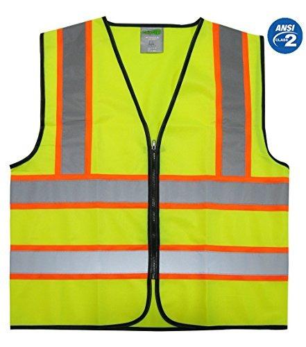 Imagen 1 de 4 de Chaleco De Seguridad Reflectante Gripglo, Color Neón Brillan