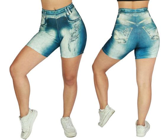 Kit 3 Short Legging Jeans Moda Feminina Academia Atacado