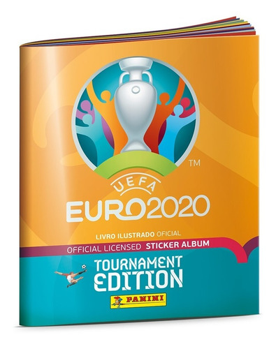 Imagem 1 de 5 de Livro Ilustrado Album Uefa Eurocopa 2020 Novo Pronta Entrega