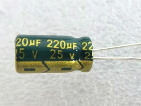 220uf 25v 105° Low Esr Alta Frequência 12x6mm 100 Peças