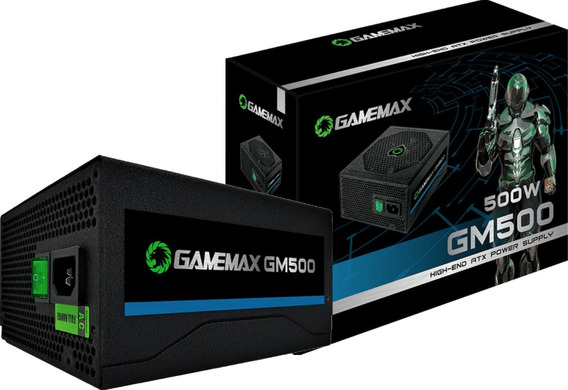 Fonte Gamemax 500w Gm500 80 Plus Bronze Pfc Ativo Com Cabo
