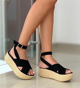 700f6889b1 Zapato Plataforma Alta De Gamuza - Zapatos para Mujer en Mercado ...