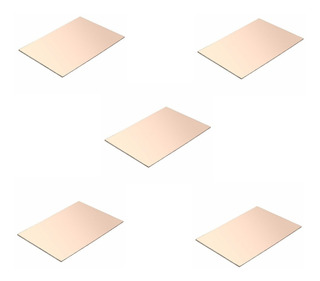 Pack X5 Placa De Cobre Circuito Impreso Virgen 15x20 Cm