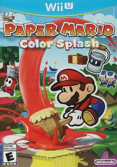 Mídia Física Paper Mario Color Splash Wii U - Novo E Lacrado